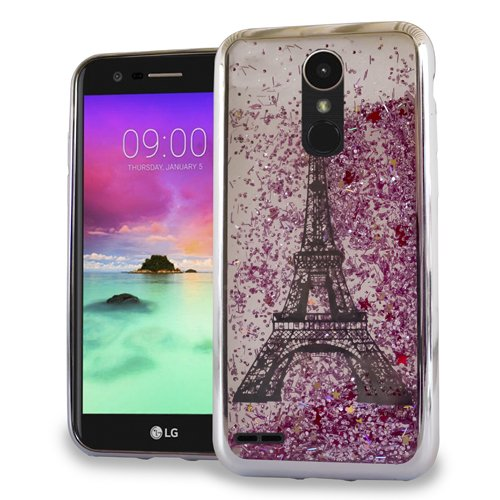 LG Stylo 3 Stylus 3 Stylo 3 Plus Luxury Sparkling CHROME Glitter Motion PARIS Tower SILVER for Boost Mobile / MetroPCS / Sprint / T-Mobile (Cases Metro Lg Phone Motion Pcs)
