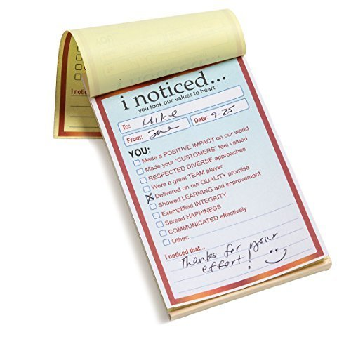 I Noticed Appreciation Notes - Set of 3 Note Pads For Office & Classroom
