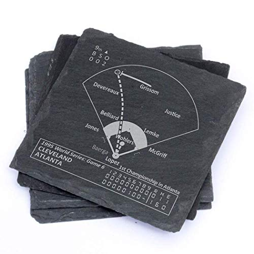 - Greatest Braves Plays - Slate Coasters (Set of 4)