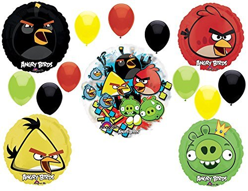 Mayflower Products Angry Birds Birthday Party Supplies and Group See-Thru Balloon -