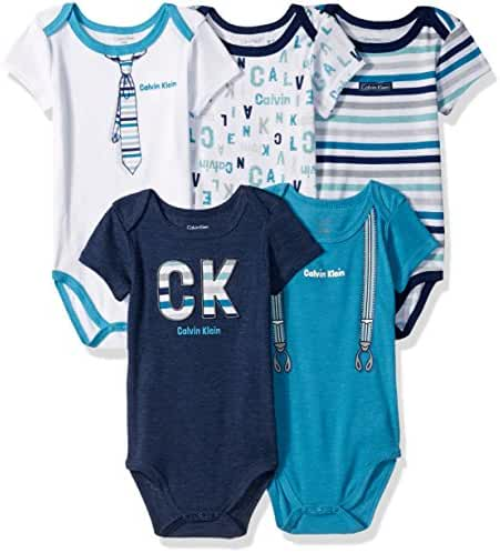 Calvin Klein Baby Boys' 5 Packs Bodysuits