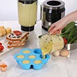 Aozita Silicone Egg Bites Molds for Instant Pot Accessories - Fits Instant Pot 5,6,8 qt Pressure Cooker, Reusable Storage Container and Freezer Tray with Lid, Sous Vide Egg Poacher