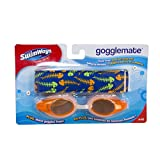 5.75'' Orange Gogglemate Floating Goggles Swimming Pool Accessory Ages 6-12