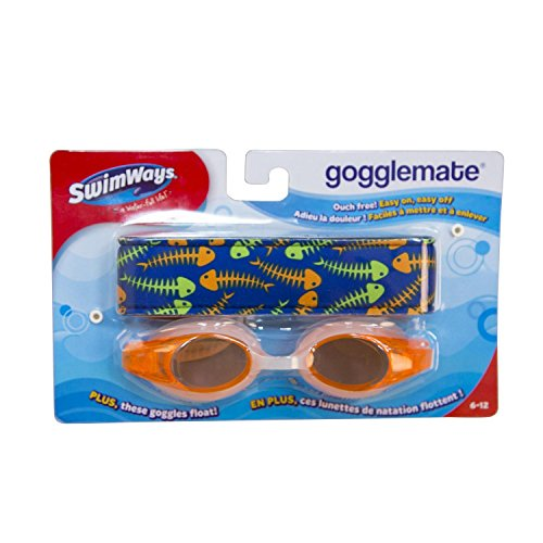 5.75'' Orange Gogglemate Floating Goggles Swimming Pool Accessory Ages 6-12 by Swimway