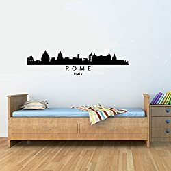 Rome Italy City Skyline Vinyl Wall Decals Quotes Sayings Words Art Decor Lettering Vinyl Wall Art Inspirational Uplifting