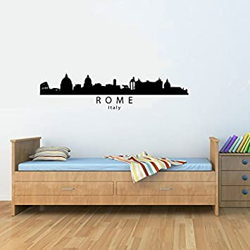 Amazon.com: Rome Italy City Skyline Vinyl Wall Decals Quotes Sayings ...