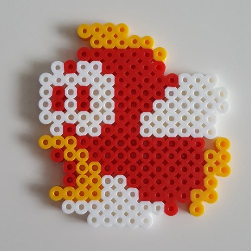 Amazon com: Cheep Cheep Perler sprite from Super Mario Bros