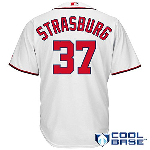 Youth Home Washington Nationals Jersey (Stephen Strasburg #37 Washington Nationals Youth Home Cool Base Replica Jersey (Youth Large 18))