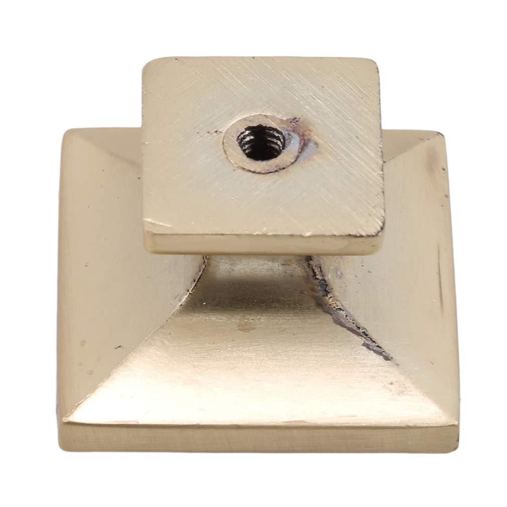 3.5 Jixing 1pcs traditioneller quadratischer Kabinett-Knopf f/ür Kabinett-Aufbereiter-Fach 3.5 2.5cm
