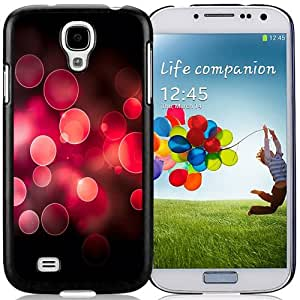 Popular And Unique Designed Case For Samsung Galaxy S4 I9500 i337 M919 i545 r970 l720 With Red Circles Bokeh Phone Case Cover