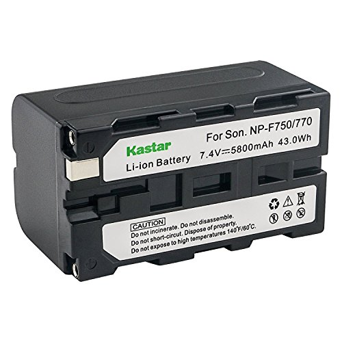 Kastar Battery 1-Pack for Sony NP-F770 NP-F750 and CCD-RV100 CCD-RV200 CCD-SC9 CCD-TR1 CCD-TR940 CCD-TR917 FDR-AX1 Camera CN-126 CN-160 CN-216 CN-304 YN 300 VL600 LED Video Light by Kastar