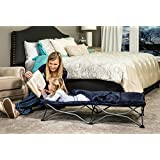 Regalo My Cot Deluxe Portable Toddler Bed, Includes Sleeping Bag, Navy