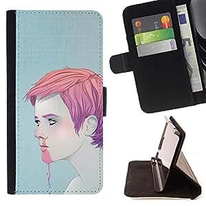 Jordan Colourful Shop - man boy pink nose bleeding ice cream face For Samsung Galaxy Core Prime - < Leather Case Absorci????n cubierta de la caja de alto impacto > -