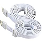 Extension Cable for Philips Hue 800268 and Hue LightStrip Plus (3 ft/1 m, 2 Pack, White)