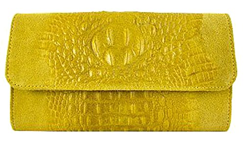 G Mujer amp;g Piel Pelletteria Amarillo Cruzados De Bolso Para rwrT0nq4Sx
