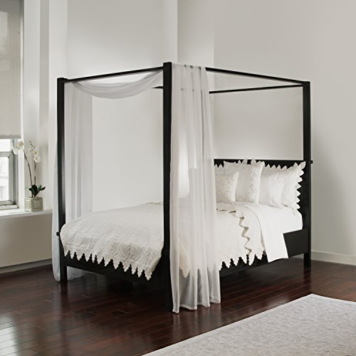 Royale Linens White Sheer, Sizes Bed Canopy Scarf, ()