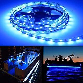 Seapon Pontoon Boat Light, Marine Led Light Strip for Duck Jon Bass Boat Sailboat Kayak, Led Flex Lighting for Boat Deck Light Accent Light Courtesy Interior Lights Fishing Night, 12v, 5m(16.4ft)