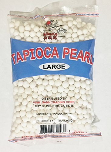 Large Pearl Tapioca - 14oz Asuka Tapioca Pearl White Large (One Bag)