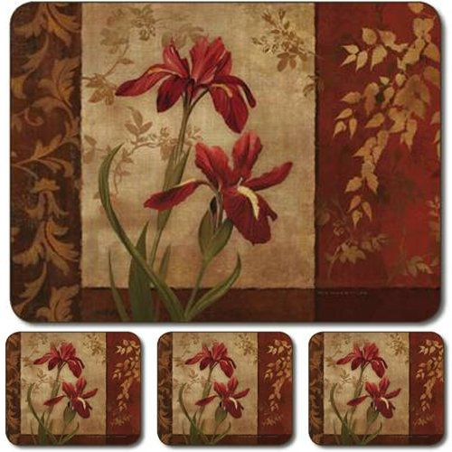 Large Cominhkpr10830 Set Of 4 Jason Iris Time Placemats Place Mats Kitchen Table Linens