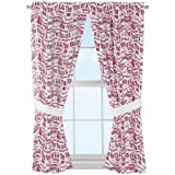 The Northwest Company NCAA Arkansas Razorbacks Anthem Window Curtain Panels - Set of 2-36'' x 48''