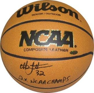 Christian Laettner signed Wilson NCAA Indoor/Outdoor Basketball 2X NCAA Champs (Duke Blue Devils) - Autographed College Basketballs