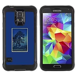 Suave TPU GEL Carcasa Funda Silicona Blando Estuche Caso de protección (para) Samsung Galaxy S5 V / CECELL Phone case / / Night Tree Poster Frame Nature /