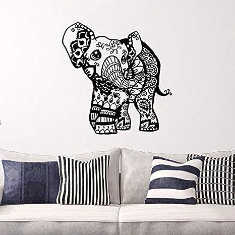 Etiqueta engomada de la pared del vinilo del elefante indio HNXDP ...