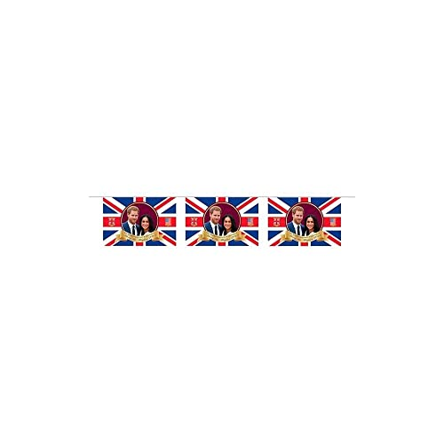 Prince Harry and Meghan Royal Wedding Party Decoration Bunting 8 Flags 20 feet