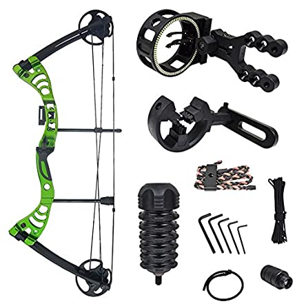 iGlow 30-55 lbs Black/Green/Camouflage Camo Archery...