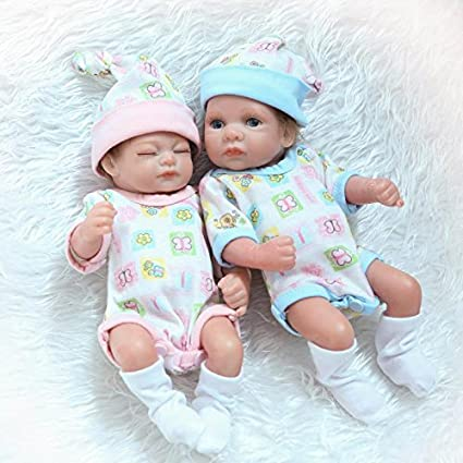 dbc989f5c8d Image Unavailable. Image not available for. Color  NPK Collection Realistic Reborn  Baby Doll Twins Full Silicone Body Newborn ...