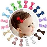 Hilai, pequeña boutique, 10 pares de lazos de cinta de otomán, con pasador de pinzas de cocodrilo, de 5 cm, para niñas bebés.
