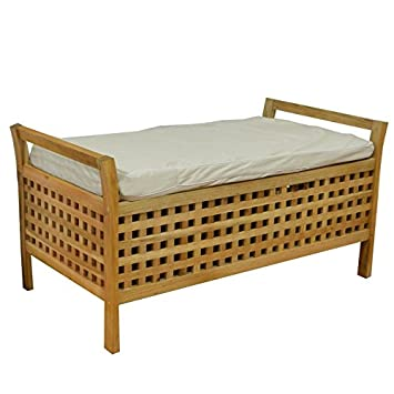 Laundry Basket Bench Bathroom and Bedroom Chest - Bench with ...