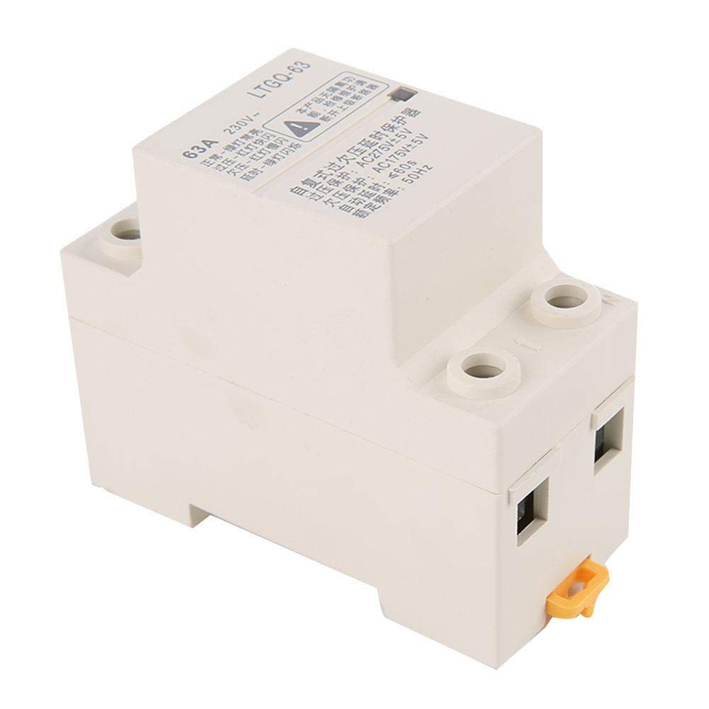 Voltage Protector Relay, Keenso Adjustable Automatic Reconnect Over Voltage And Under Voltage Protection Relay 2P63A Relay Delay Protection Device