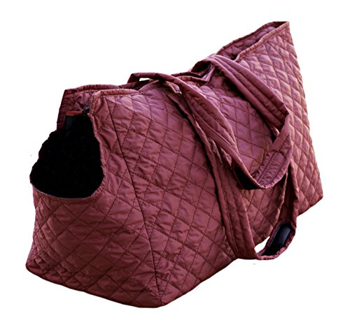 Multipet Pet Voyage Tacoma Quilted Dog Tote, Red, 17