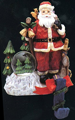 Tree Stocking Hanger (Santa with Reindeer and Christmas Tree Stocking Hanger)