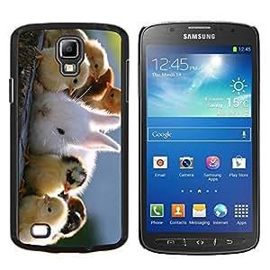 TECHCASE---Cubierta de la caja de protección para la piel dura ** Samsung Galaxy S4 Active i9295 ** --Polluelos lindos y conejo