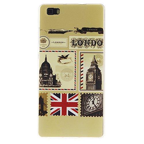 AllDo Funda Silicona para Microsoft Nokia Lumia 630 Carcasa Protectora Caso Suave TPU Soft Silicone Case Cover Bumper Funda Ultra Delgado Carcasa Flexible Ligero Caja Anti Rasguños Casco Anti Choque - Londres