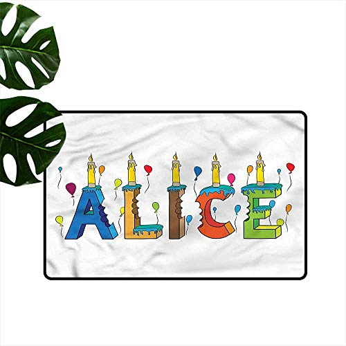 HOMEDD Modern Doormat,Alice Colorful Girl Name Design,Bathroom mat,31