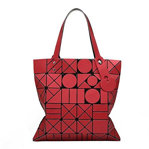 Printemps Rubik's Pour Main Mode Bandoulière Lingge Géométrie Red Sac Femme Cube Été à Laser Pliage à Sac Et Sac gwF7q