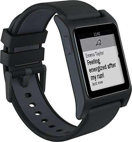 Pebble Smartwatch for iOS and Android - White/White