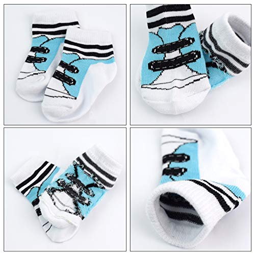 6 Pairs 0-10 month Baby Newborn Ankle Sock Toddler Crew Walkers Bootie Infant Socks (Mixed style 2) by Fly-Love (Image #2)