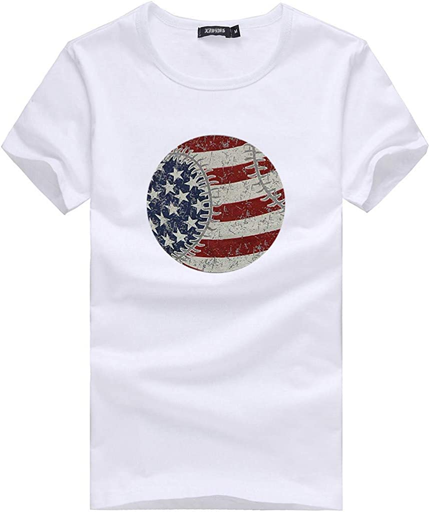 Onegirl Womens Independence Day Plus Size Loose O Neck T-Shirt Short Sleeve Top Blouses