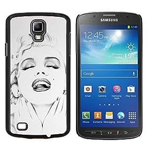 Caucho caso de Shell duro de la cubierta de accesorios de protección BY RAYDREAMMM - Samsung Galaxy S4 Active i9295 - Actriz 50 DEL 60 DE Estrella