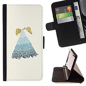 """For Motorola Moto E ( 2nd Generation ),S-type Bordado de la abuela de la abuela"""" - Dibujo PU billetera de cuero Funda Case Caso de la piel de la bolsa protectora"""