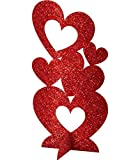 "Amscan 240640 Craft Party Heart Décor, 11 1/2"", Red"