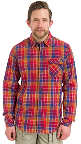 Timberland Long Sleeve Plaid (Timberland Men's Long-Sleeve Allendale RiverDouble-Layer Shirt, Glazed Ginger, Large)