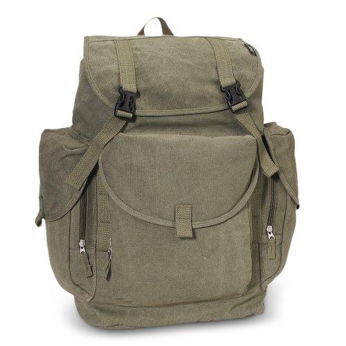 Everest Canvas Backpack - Large Color: Olive