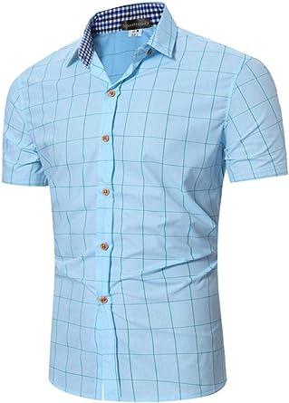 Sportrendy Hombre Camisa Casual Verano Camisas de Manga Corta Shirt LYT091: Amazon.es: Ropa y accesorios