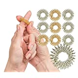 Spiky Sensory Finger Rings (Pack of 10) - Great Fidget/Sensory Toy for Kids and Adults - Spiky Finger Ring/Acupressure Ring Set