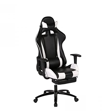 Amazoncom New White Gaming Chair High Back Computer Chair